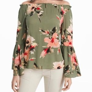 WHBM Floral Off The Shoulder Blouse